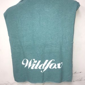 NWPCT Wildfox Couture Logo scarf teal blue OS!